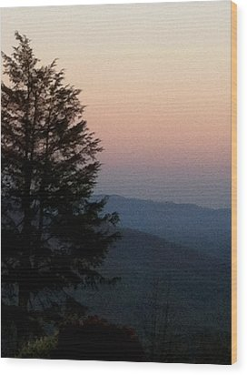 Wood Print featuring the photograph Blue Ridge Mountains by Elizabeth Coats