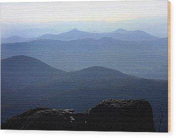 Blue Ridge Mountains Wood Print by Emanuel Tanjala