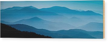 Blue Ridges Panoramic Wood Print