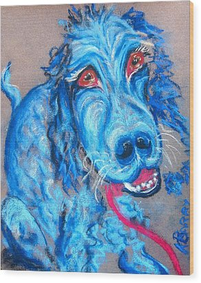 Blue Setter Wood Print by Kathryn Barry