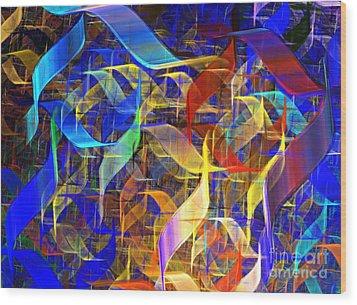 Blue Shift Wood Print by Kim Sy Ok
