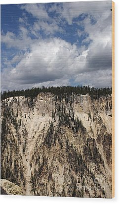 Wood Print featuring the photograph Blue Skies And Grand Canyon In Yellowstone by Living Color Photography Lorraine Lynch