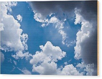 Blue Sky Wood Print by Gaurishankar Khatri