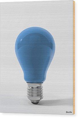 Blue Sky Lamp Wood Print by BaloOm Studios