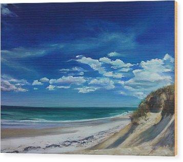 Blue Sky Walk Wood Print by Laura Balboni Craciun