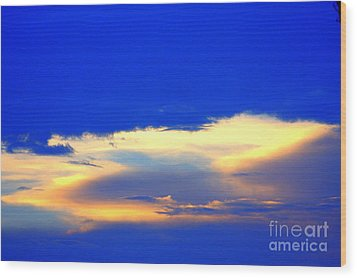 Blue Skys Wood Print by Bret Worrell