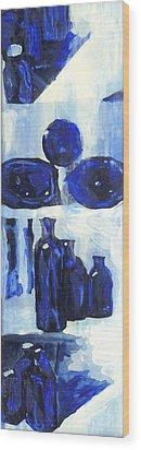 Blue Still Life Wood Print by Hatin Josee