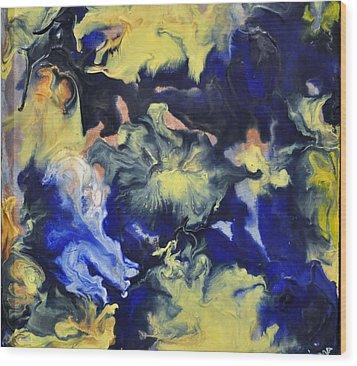 Blue Storm Wood Print by Brenda Chapman