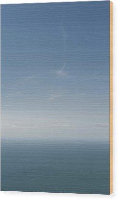 Blue Stratos Wood Print
