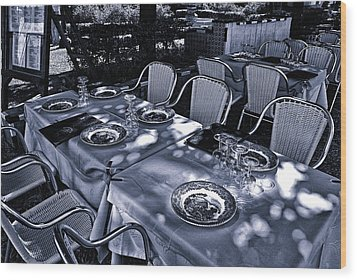 Wood Print featuring the photograph Blue Table by Rick Bragan