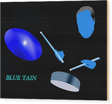 Blue Tain Wood Print