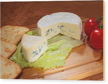 Blue-veined Camembert Wood Print by Paul Cowan