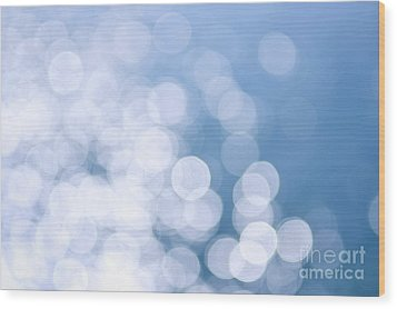 Blue Water And Sunshine Abstract Wood Print by Elena Elisseeva
