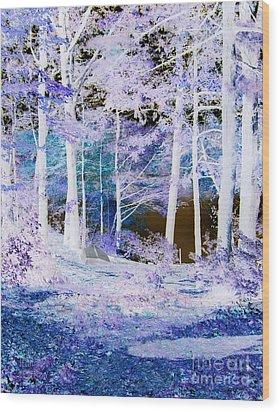 Blue Way Wood Print