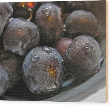 Wood Print featuring the photograph Blueberries  by Bill Owen