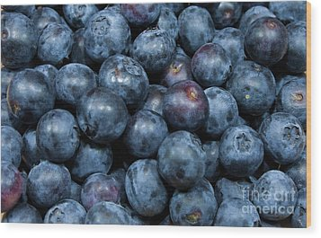 Wood Print featuring the photograph Blueberries by Michael Waters