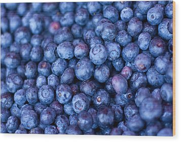 Blueberries Wood Print by Tanya Harrison