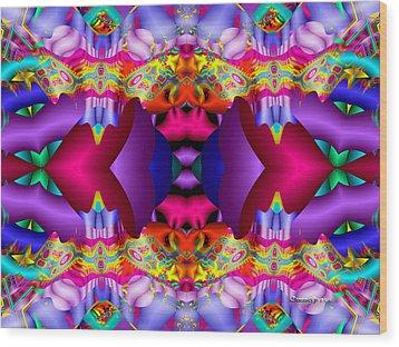Blueberry Ice Wood Print by Robert Orinski