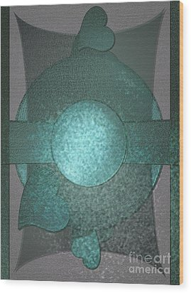 Bluecards Wood Print