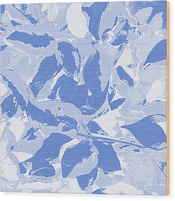 Blueming Blue  Wood Print by Keren Shiker