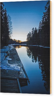 Wood Print featuring the photograph Blueness by Matti Ollikainen