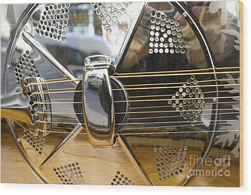 Blues Guitar Wood Print by Ed Rooney