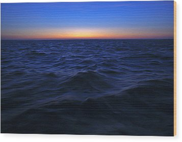 Bluewater Sunset Wood Print by Gary Eason