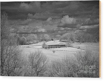 Bluffs Hotel Blue Ridge Parkway Wood Print by Dan Carmichael