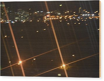 Blurred City Nights Wood Print by Naomi Berhane