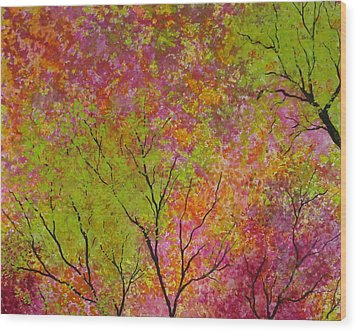 Blush 4 Wood Print