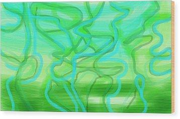Bluzul Vergreen II Wood Print by Rosana Ortiz