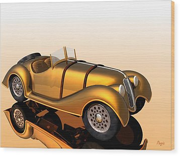 Wood Print featuring the digital art Bmw Roadster by John Pangia