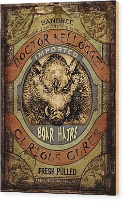 Boar Hairs  Wood Print by Nada Meeks