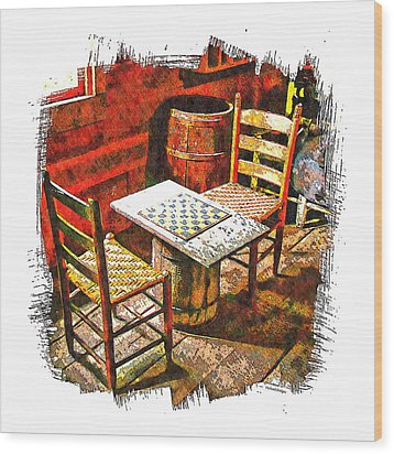 Board Games Wood Print by Michael Hodges