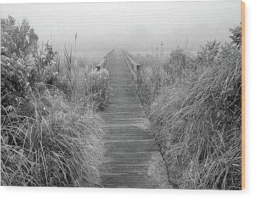 Boardwalk In Quogue Wildlife Preserve Wood Print by Rick Berk