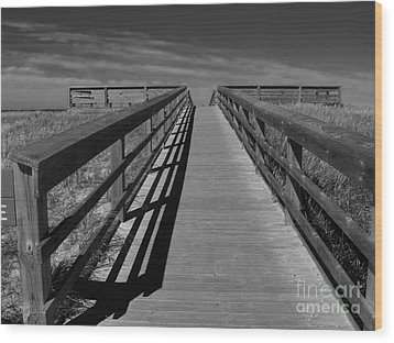 Wood Print featuring the photograph Boardwalk by Lin Haring