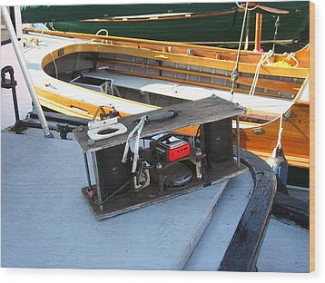Boat Builders Music Box Wood Print by Kym Backland