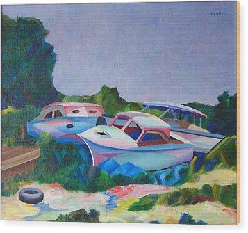 Boat Dreams Wood Print by Robert Henne