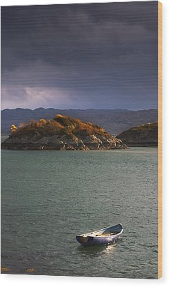 Boat On Loch Sunart, Scotland Wood Print by John Short