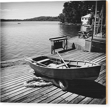 Wood Print featuring the photograph Boat Shed by Carole Hinding