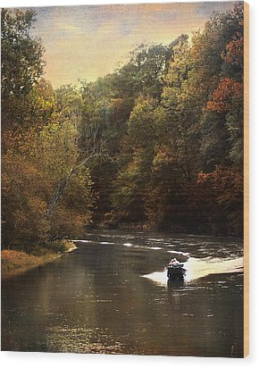 Boating On The Hatchie Wood Print by Jai Johnson