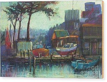 Boatman's Retreat Wood Print by Pamela Pretty