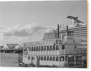 Wood Print featuring the photograph Boats - The Past And Now by Jasna Gopic