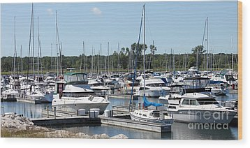 Wood Print featuring the photograph Boats At Winthrop Harbor by Debbie Hart