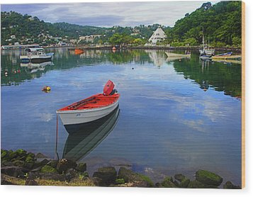 Wood Print featuring the photograph Boats-castries Harbor- St Lucia by Chester Williams