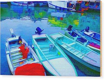 Boats Wood Print by Mauro Celotti