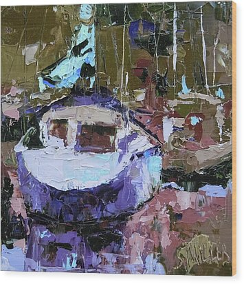 Boats Of A Different Color Wood Print