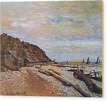 Boatyard Near Honfleur Wood Print by Claude Monet
