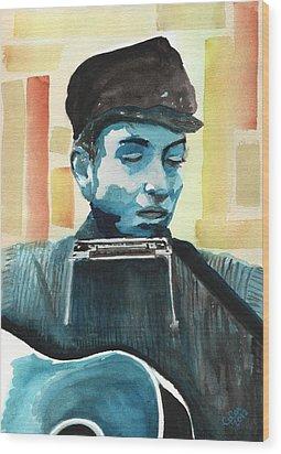 Bob Dylan Wood Print by Chris Cox