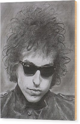 Bob Dylan Wood Print by Mike OConnell